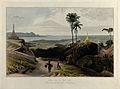 Prome seen from the south, Burma. Coloured aquatint by Willi Wellcome V0050498.jpg