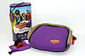 Purple BubbleBum Inflatable Car Booster Seat and its Packaging.jpg