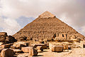 Pyramid of Khafre (Pyramid of Chefren). Giza, Cairo, Egypt, North Africa.jpg
