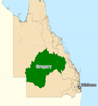 Electoral district of Gregory - 2008 map of Gregory