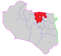 Map of Ghayen County in South Khorasan province