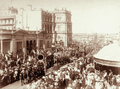 Queensland State Archives 5165 Procession in Queen Street near George Street and Victoria Bridge Brisbane c 1899.png
