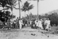 Queensland State Archives 5804 Hon J C Peterson Home Secretary and party with residents of Yarrabah June 1931.png