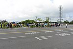 Queue of Visitors waiting Shuttle Buses to Gangshan Air Force Base 20170812b.jpg