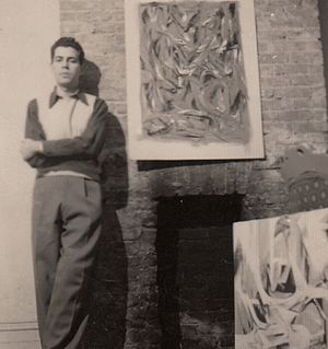 Raymond P. Spillenger - Raymond Spillenger in his New York studio, ca. 1949.