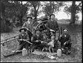 Rabbit hunters, probably Christchurch district, (ca 1912) (4835444329).jpg