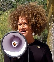 Rachel Dolezal speaking at Spokane rally May 2015