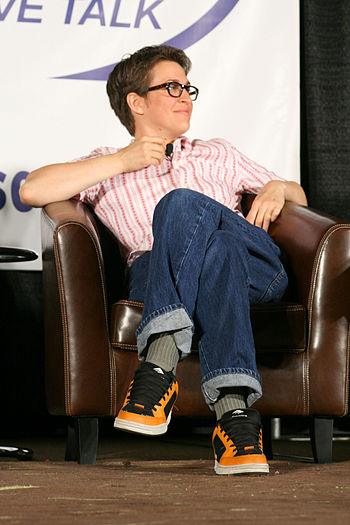 Talk show host and commentator Rachel Maddow. ...
