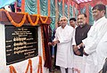 Radha Mohan Singh and the Chief Minister of Bihar, Shri Nitish Kumar laying the foundation stone of Frozen Semen Station under the Rashtriya Gokul Mission with 100% contribution from the Central Government, at Maranga.JPG