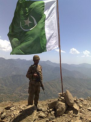 Operation Black Thunderstorm - Image: Raising the flag in Swat Flickr Al Jazeera English