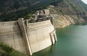 Shahid Rajaee Dam - The upstream face of the dam