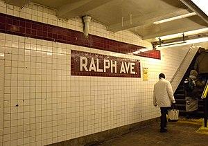 Ralph Avenue (IND Fulton Street Line) - Westbound platform