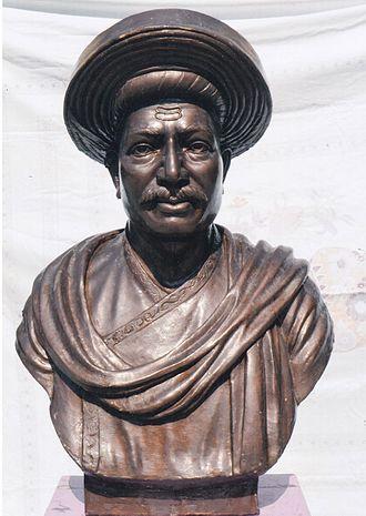 Ramchandra Pant Amatya - Ramchandrapant Amatya Statue at Maisaheb Bavdekar School, Kolhapur