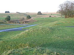 Ramparts of the Roman fort at Bewcastle - geograph.org.uk - 1834694.jpg