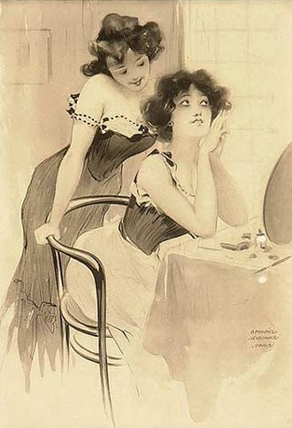 Raphael Kirchner - Women at their Toilette, date unknown
