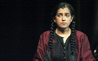 Bharat Rang Mahotsav - Ratna Pathak during performance at 2008 festival