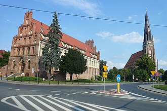 West Pomeranian Voivodeship - Gothic town hall, Chojna, built by Germans in 1320, when the town was known as Königsberg in der Neumark