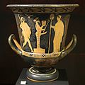 Red figure calyx crater, 450-425, herm, Hermes ithyphallic or Dionysos, AM Syracuse, 121521.jpg