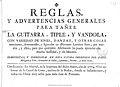 Reglas y advertencias generales para tañer la guitarra 1774 Minguet 01.jpg