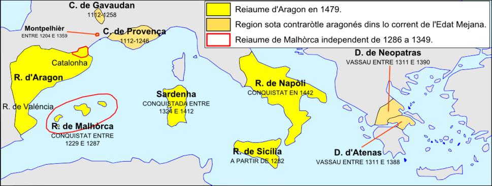 Reiaume d'Aragon - Expansion en Mediterranèa