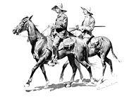 Cowboys on Horse  - 1895