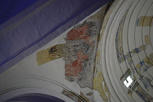 Tuxtla Gutiérrez - Remnants of frescos at the Saint Mark's Cathedral