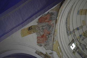 Tuxtla Gutiérrez - Remnants of frescos at the Saint Mark's Cathedral