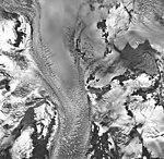 Rendu Glacier, tidewater glacier, hanging glacier and firn line, September 17, 1966 (GLACIERS 5822).jpg