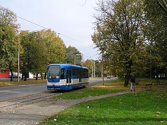 Trams in Osijek - Image: Renewed Osijek Tram