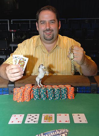 Rep Porter - Porter after winning the $1,500 No-Limit Hold'em Six-Handed event at the 2008 World Series of Poker
