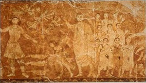 World to come - Resurrection of the dead, fresco from the Dura-Europos synagogue