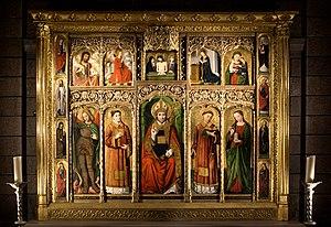 Saint Nicholas Cathedral, Monaco - Altarpiece of St Nicolas - Ludovico Brea, 1500