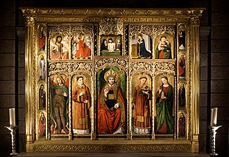Cathedral of Our Lady Immaculate - Altarpiece of St Nicolas - Ludovico Brea, 1500