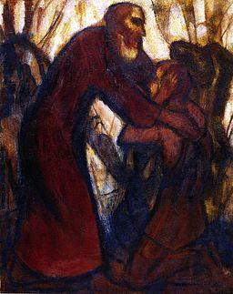 Return of the Prodigal Son, 1914. CHristian Rohlfs