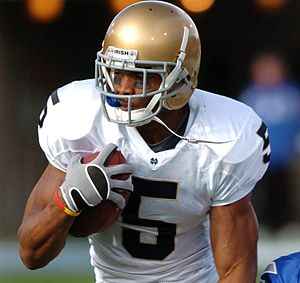 Rhema McKnight - McKnight while playing for Notre Dame