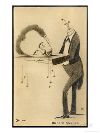 Succès de scandale - Richard Strauss's head on a silver platter satirizes the decapitation of John the Baptist in his operatic version of Wilde's Salome