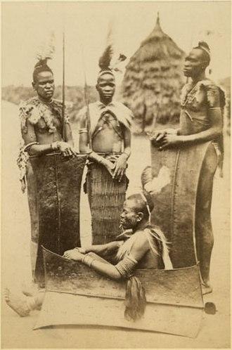 Acholi people - Image: Richard Buchta Group of Acholi warriors