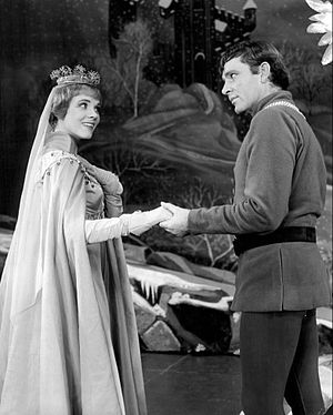 Camelot (musical) - Julie Andrews and Richard Burton as Queen Guenevere and King Arthur.
