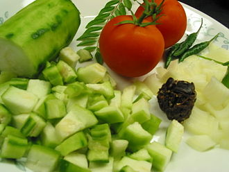 Luffa - Beerakaya pulusu curry ingredients