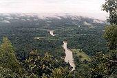 Rio Moa, um dos rios que passam pelo parque.