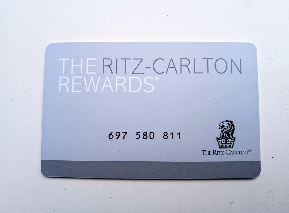 Ritz-Carlton Rewards membership card