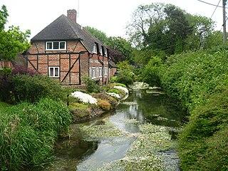 River Lambourn River in Berkshire, United Kingdom