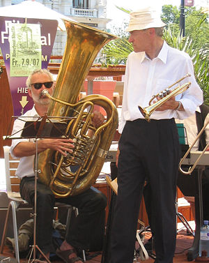 "Tuba - ""Kaiserbass"" (tuba in B♭) and cornet"