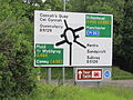 Road sign, A550 Gladstone Way, Flintshire (1).JPG