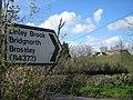 Road sign and Bank Farm - geograph.org.uk - 761477.jpg