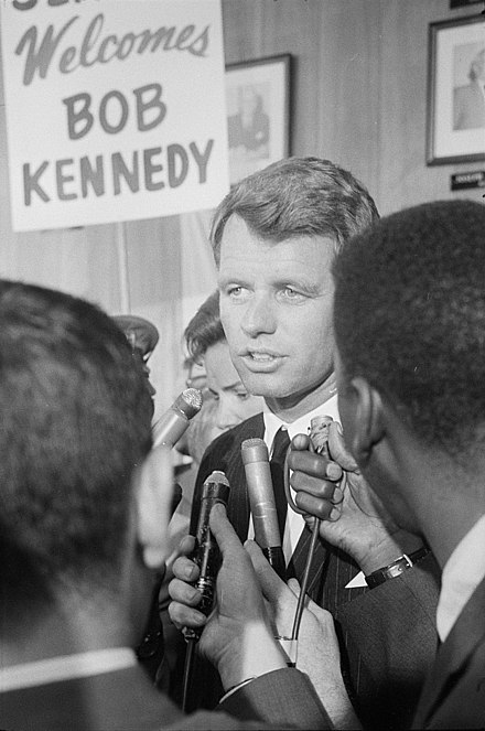 Kennedy at the 1964 Democratic National Convention Robert Kennedy at the 1964 Democratic National Convention (cropped).jpg