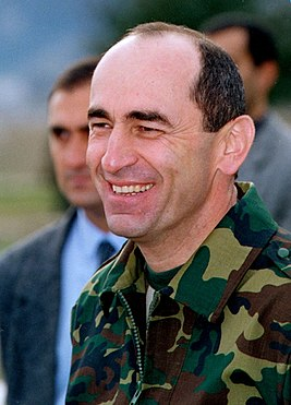 Robert Kocharyan in Karabakh, 2003.JPG