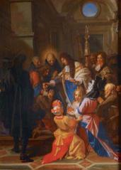 Louis XIV touchant les malades des écrouelles