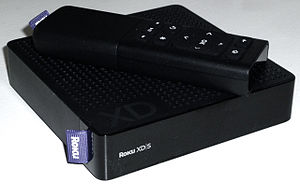 Photograph of Roku XDS player with remote.