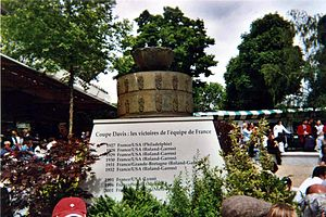 France Davis Cup team - Monument to French Davis Cup successes at Stade Roland Garros.
